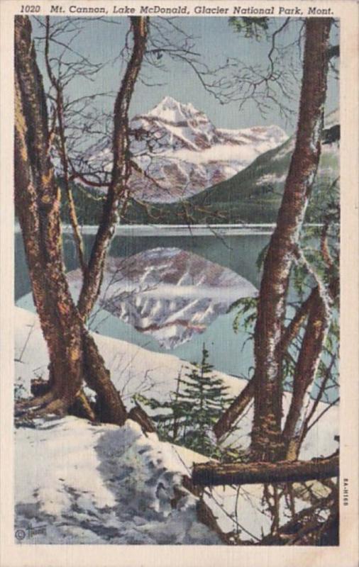 Montana Glacier National Park Mt Cannon & Lake McDonald 1939 Curteich