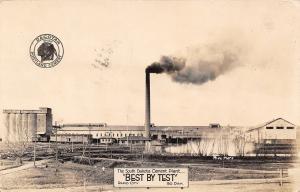 Rapid City SD Dakotah Brand Portland Cement Plant~Smoke Stack~RPPC 1927