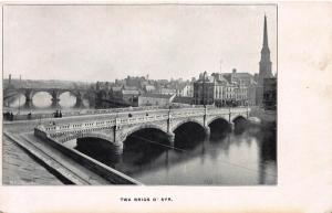 Twa Brigs O'Ayr, Scotland, Great Britain, Early Postcard, Unused