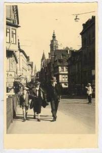RP Heilbronn a. N.- Rathaus, Germany 20-30s, People walkin on street