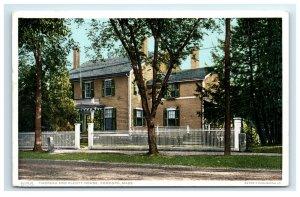 Postcard Thoreau and Alcott House, Concord MA phostint G33