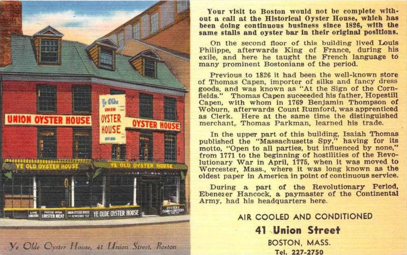 4499  MA Boston 1960's  Union Oyster House Restaurant