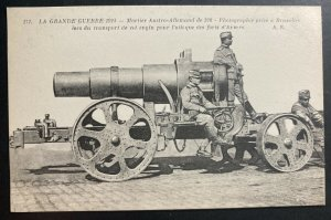 Mint France Picture Postcard PPC Astro German Mortar Transportation