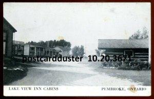 3671 - PEMBROKE Ontario Postcard 1950s Lake View Inn Cabins