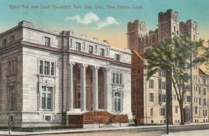 NEW HAVEN, Connecticut, 1900-10s; Byer's Hall and Sheff Vanderbilt Hall, Yale...