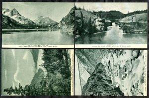 3902 - ALASKA & YUKON 1920s Lot of (4) Postcards. West Taku Arm Miles Canyon BC