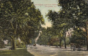 CHICAGO, Illinois, PU-1909; Driveway Lincoln Park