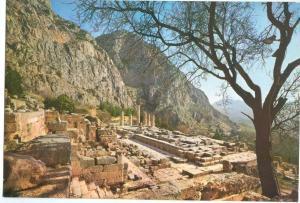 Greece, DELPHI, View of the Apollo Temple, unused Postcard