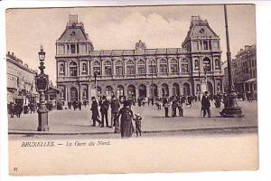 B&W People at North Train Station, Brussels Belgium, van den Heuvel