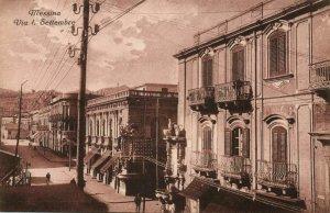 italy, MESSINA, Sicily, Via I. Settembre (1910s) Postcard