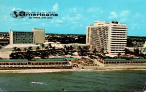 Florida Miami Beach Bal Harbour The Americana Hotel 1970