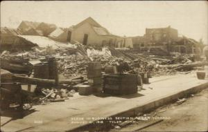 Tyler MN 1918 Aug 1 Tornado Damage Business Section Real Photo Postcard