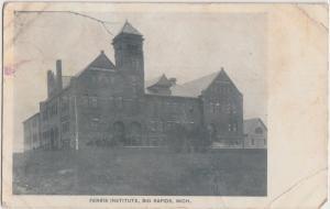Michigan MI Postcard c1910 BIG RAPIDS Ferris Institute