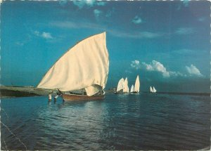 United Arab Emirates arabian gulf UAE boats postcard