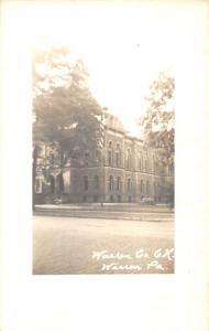 Warren Pennsylvania Court House Real Photo Antique Postcard K62719