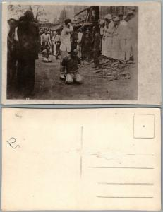 CHINESE EXECUTION VINTAGE REAL PHOTO POSTCARD RPPC CHINA