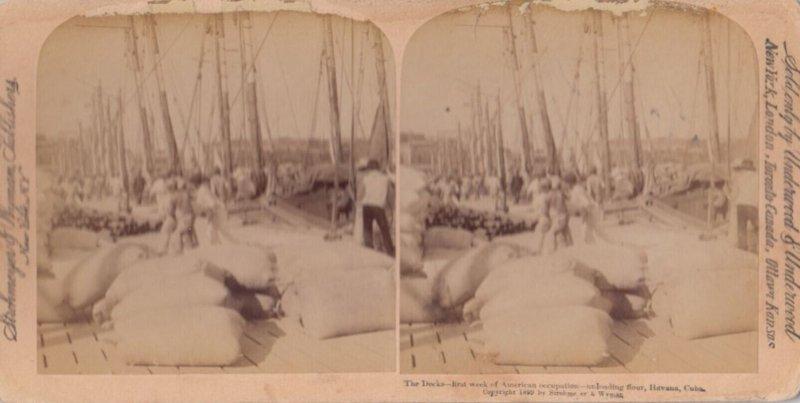 SV: Havana , Cuba , 1899 ; The Docks