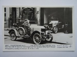 Motor Car THE BULLNOSE MORRIS & Mr W.R. Morris c1913 RP Postcard by Pamlin Repro