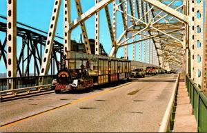 Michigan Soo Tour Train On International Bridge
