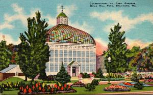 Maryland Baltimore Druid Hill Park Conservatory At Rose Gardens