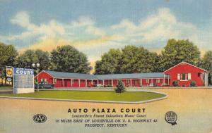 Prospect Kentucky Auto Plaza Court Street View Antique Postcard K80879