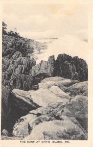 Orr's Island ME Surf's Up~Waves Crash Against The Rocks~MJ Prince Albertype 1910