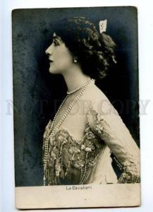 174454 La CAVALIERI Italian OPERA star SINGER Vintage PHOTO