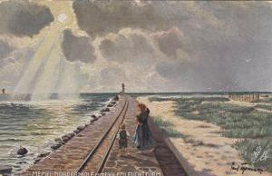 GERMANY, 1900-10s; Memel, Nordermole Mit Molenleuchtturm (LIGHTHOUSE), TUCK 655B