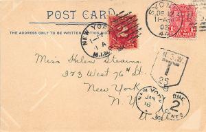 Sydney Australia Post Office NY M. I. & R. Cancel Postage Due 1903 Postcard