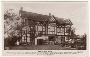 Cheshire; Handforth Hall RP PPC By Grenville Series, Unposted, c 1920's