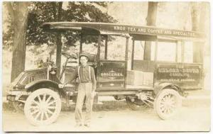 Canton OH Knox Tea Coffee Groceries Kelly Truck RPPC Real Photo Postcard