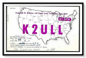 New York, Levittown QSL Ham Radio - (MX-008)