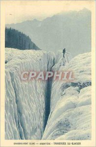 Old Postcard Chamonix Argentiere Glacier Mountaineering Traversee