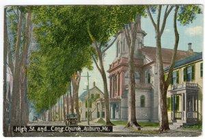 Auburn, Me, High St. and Cong. Church