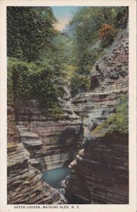 New York Watkins Glen Upper Cavern Curteich