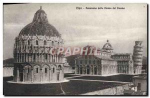 Old Postcard Panorama Dello Pisa Piazza del Duomo