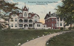 CARBONDALE , Pennsylvania, PU-1912 ; Emergency Hospital & Nurses' Home