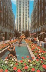 USA The Channel Garden Rockefeller Center New York