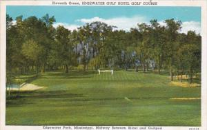 Mississippi Edgewater Park Edgewater Gulf Hotel Golf Course 11th Green Curteich