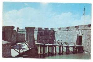Entrance and Moat Castillo San Marcos St Augustine FL 1953