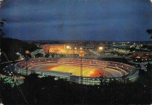 Italy Roma di Notte Olympic Stadium Panorama Postcard