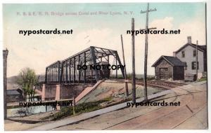 R. S. & E. RR Bridge, Erie Canal, Lyons NY
