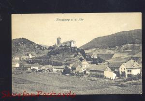 KREUZBERG A.D. AHR GERMANY BIRDSEYE VIEW ANTIQUE VINTAGE POSTCARD
