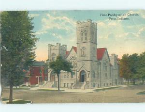Divided-Back CHURCH SCENE Peru Indiana IN A9982