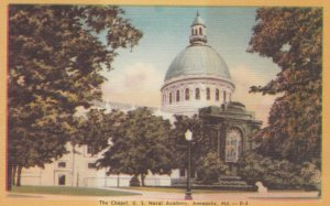 ANNAPOLIS, Maryland, 1930-40s; The Chapel, U.S. Naval Academy