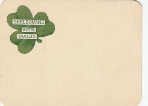 DUBLIN , Ireland , 1900-10s; Blank Postcard from the Shelbourne Hotel