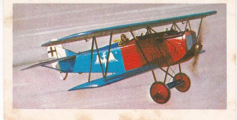 Trade Card Brooke Bond Tea History of Aviation black back reprint No 10 Fokker
