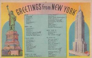 New York Greetings From 1944