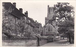 England Ely King's School and Ely Cathedral 1957 Photo