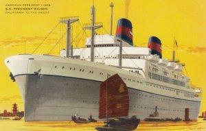 American President Lines, S. S. PRESIDENT WILSON, Passenger Ship